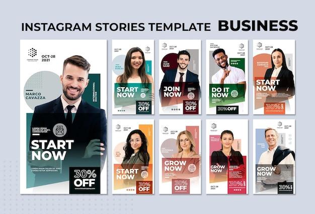 Modèle d'histoires d'entreprise instagram