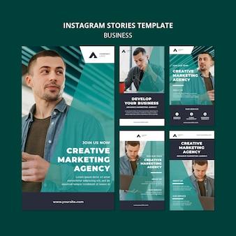 Modèle d'histoires instagram d'agence de marketing