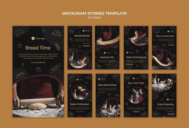 Modèle d'histoires instagram baker