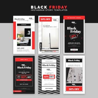 Modèle d'histoires instagram black friday