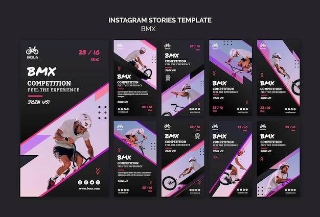 Modèle d'histoires instagram bmx