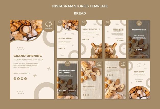Modèle d'histoires instagram de boulangerie d'ouverture