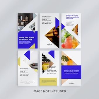 Modèle d'histoires instagram de conception minimaliste
