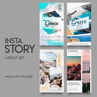 Modèle d'histoires instagram dans les médias sociaux