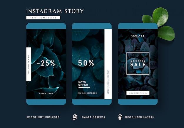 Modèle d'histoires instagram dark nature