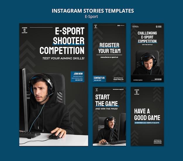 Modèle d'histoires instagram d'e-sports