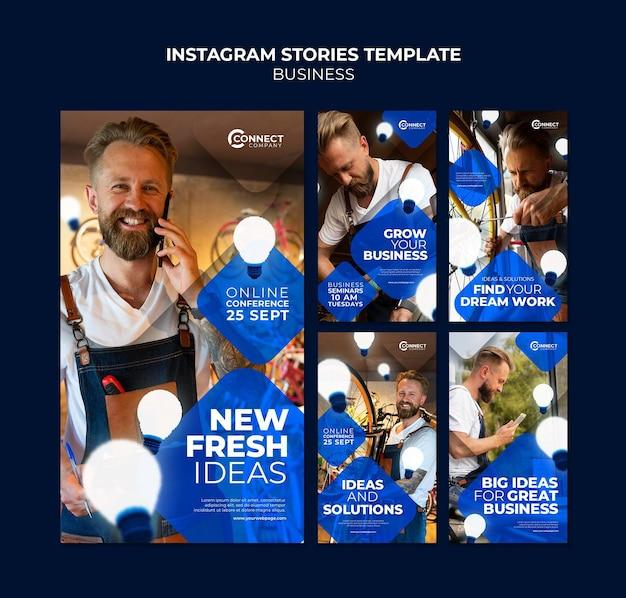 Modèle d'histoires instagram d'entreprise