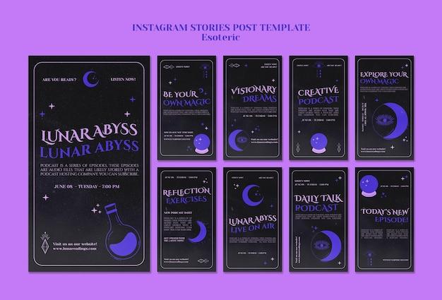 Modèle d'histoires instagram ésotériques