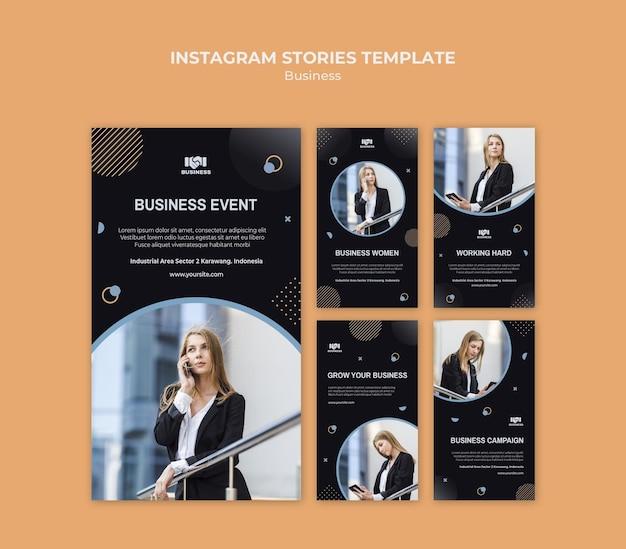 Modèle d'histoires instagram d'événement professionnel