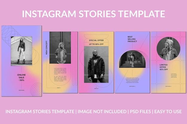 Modèle d'histoires instagram fashion quirk