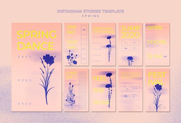Modèle d'histoires instagram festival de musique de printemps