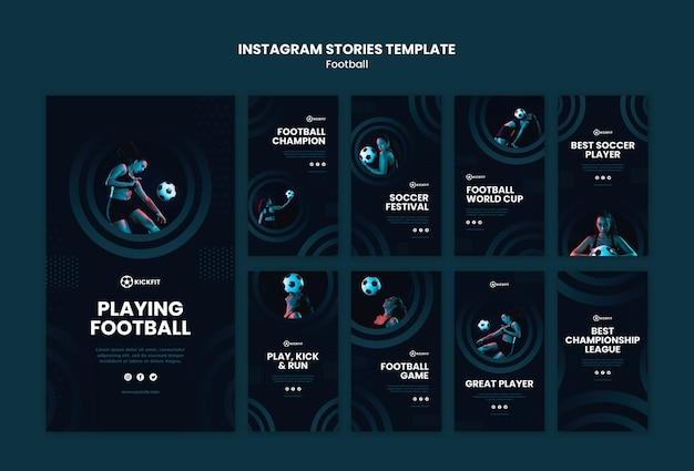 Modèle d'histoires instagram de football