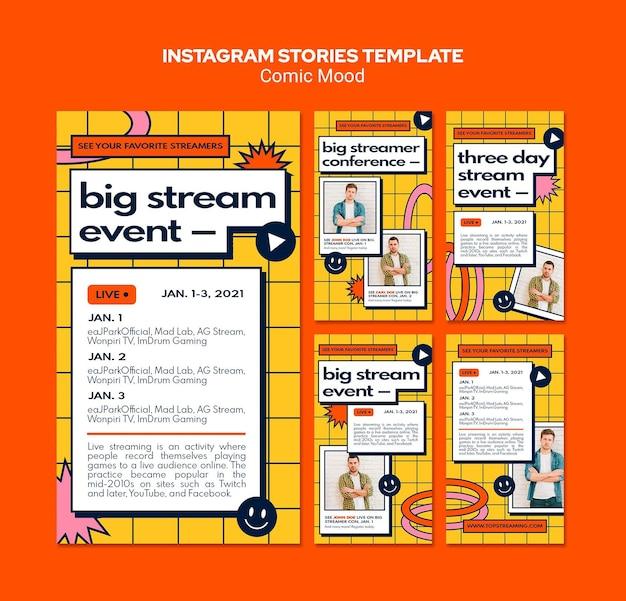 Modèle d'histoires instagram d'humeur comique