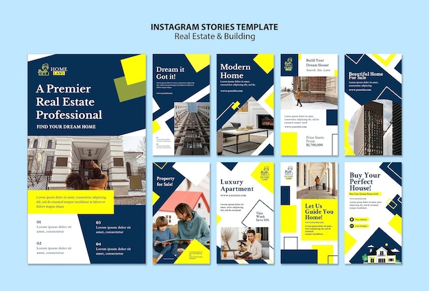 Modèle d'histoires instagram immobilières