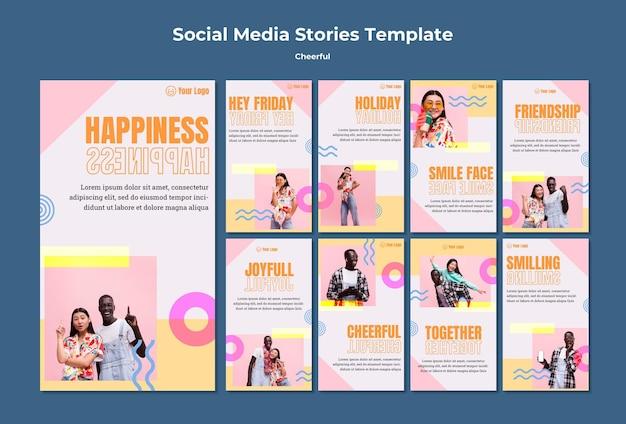 Modèle d'histoires instagram joyeuses