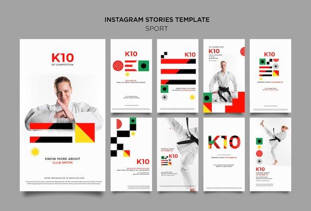 Modèle d'histoires instagram k10