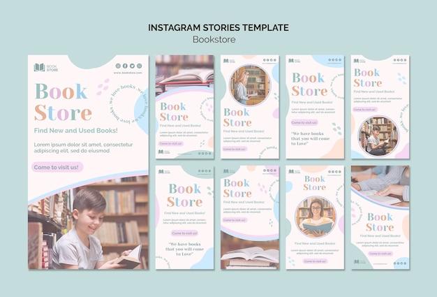 Modèle d'histoires instagram de librairie