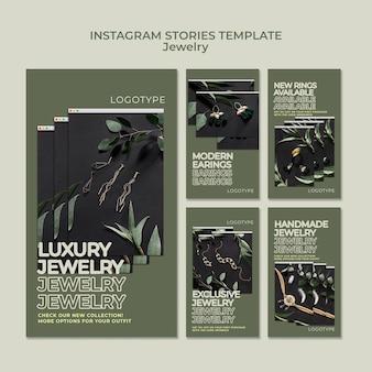 Modèle d'histoires instagram de magasin de bijoux