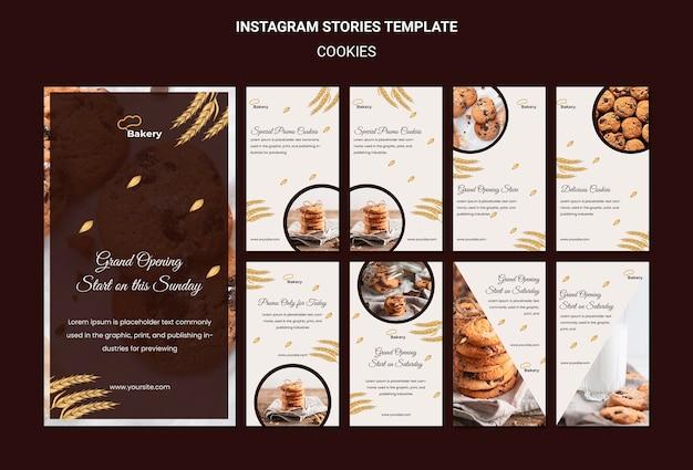 Modèle d'histoires instagram de magasin de cookies