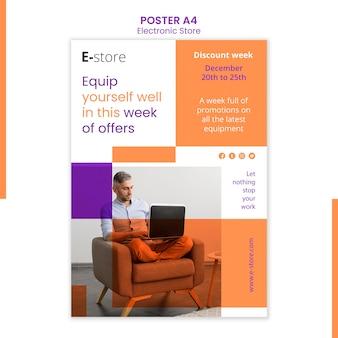 Modèle d'histoires instagram de magasin électronique