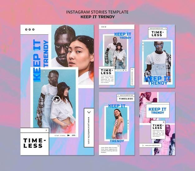 Modèle d'histoires instagram de magasin de mode