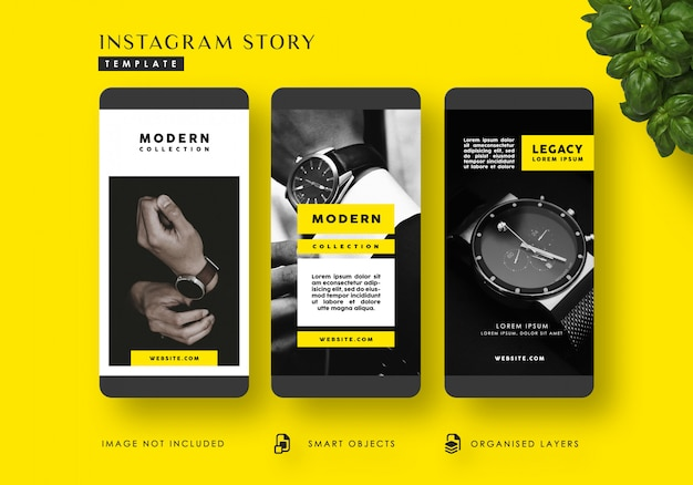 Modèle d'histoires instagram de mode moderne