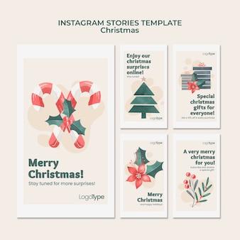 Modèle d'histoires instagram de noël en ligne
