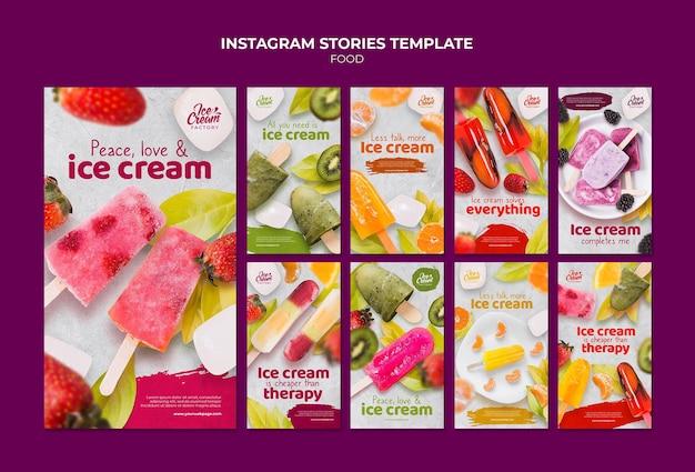 Modèle d'histoires instagram de nourriture délicieuse