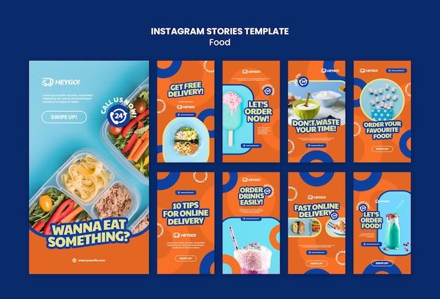 Modèle d'histoires instagram de nourriture savoureuse