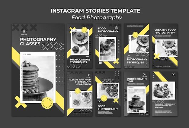 Modèle d'histoires instagram de photographie culinaire