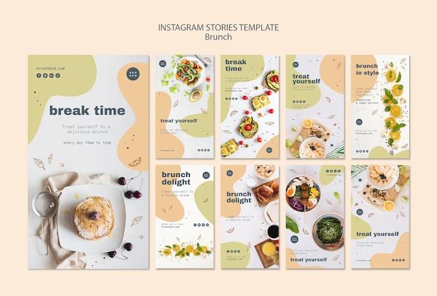 Modèle d'histoires instagram pour le brunch