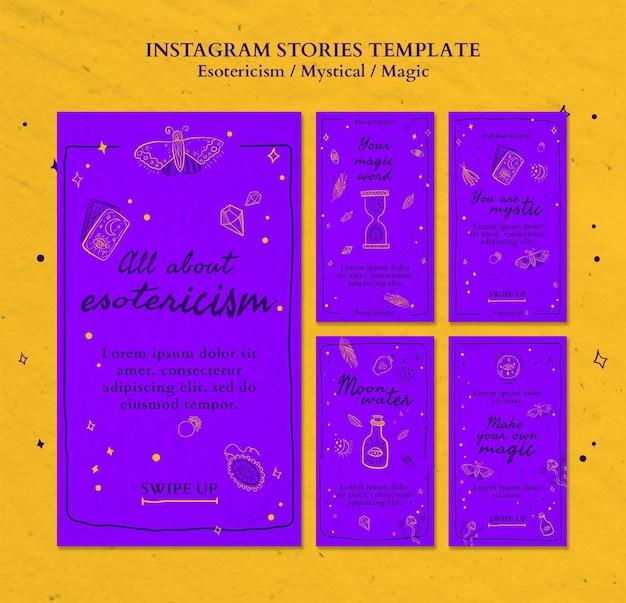 Modèle d'histoires instagram pour l'ésotérisme