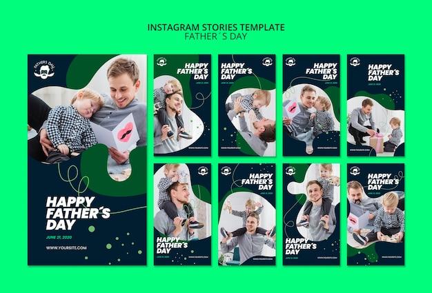 Modèle d'histoires instagram pour l'événement de la fête des pères