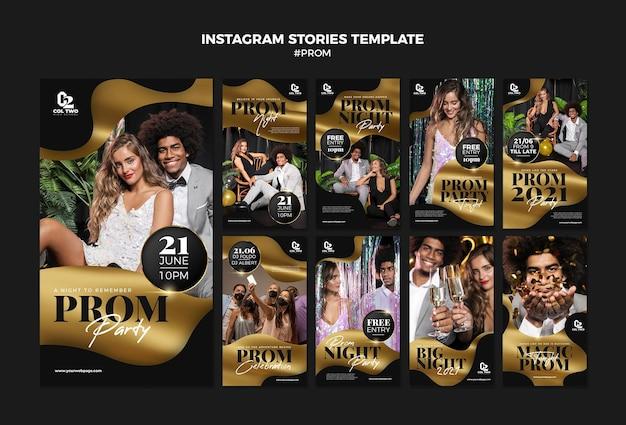 Modèle d'histoires instagram pour la fête de fin d'études