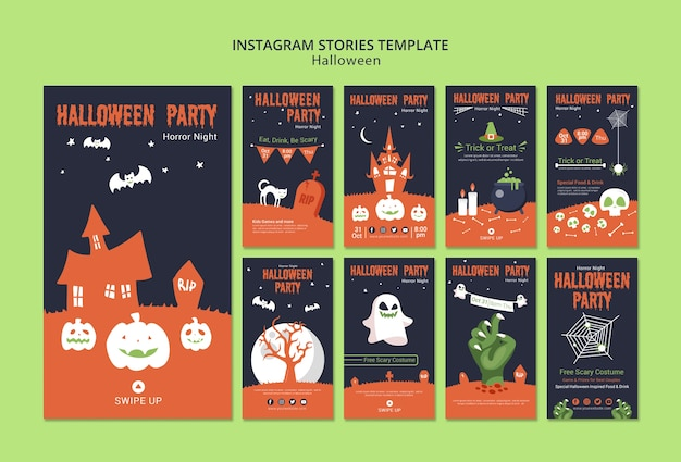 Modèle d'histoires instagram pour halloween