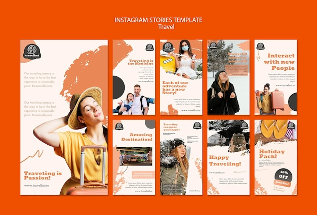Modèle d'histoires instagram de saison de vacances