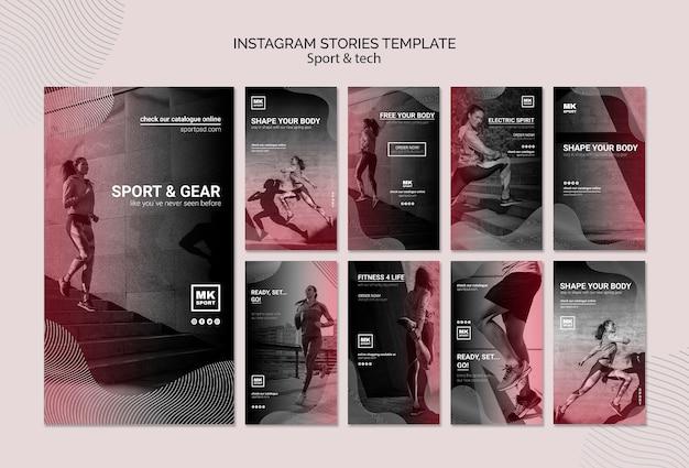Modèle d'histoires instagram sport & tech