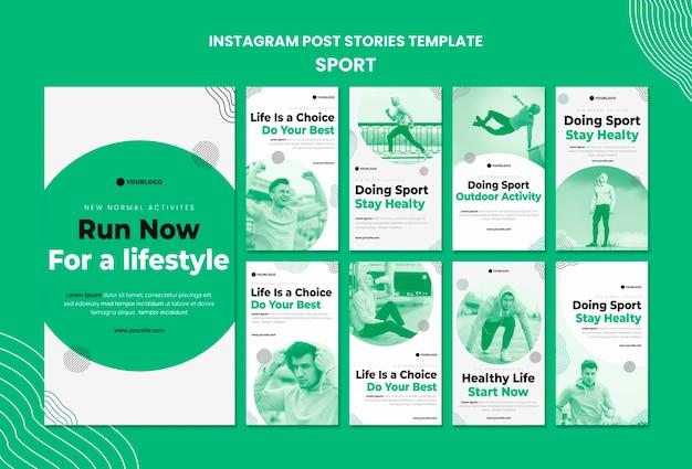 Modèle d'histoires instagram de sport
