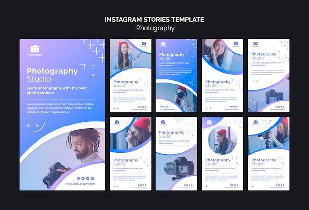Modèle d'histoires instagram de studio de photographie