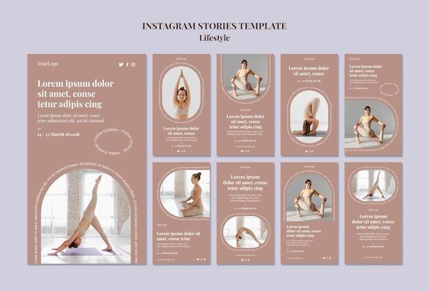 Modèle d'histoires instagram de style de vie