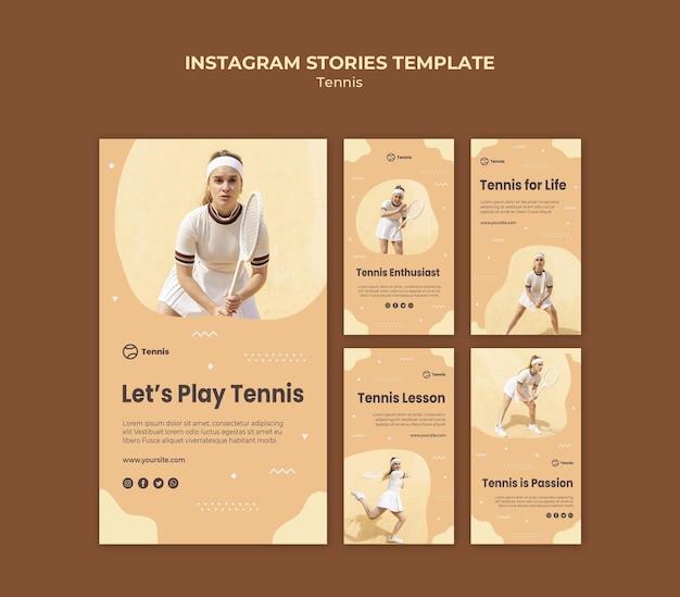 Modèle d'histoires instagram de tennis