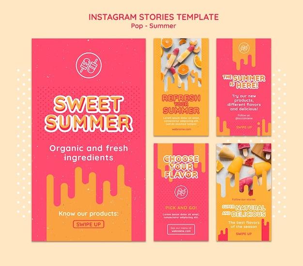 Modèle d'histoires instagram à thème gratuit