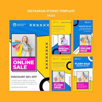 Modèle d'histoires instagram de vente en ligne