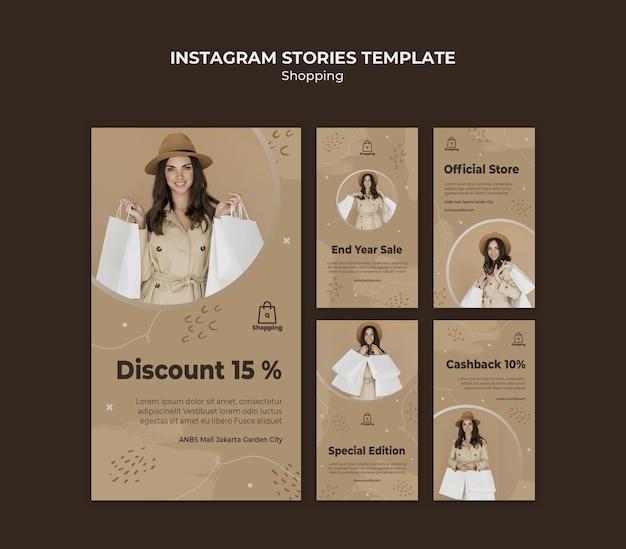 Modèle d'histoires instagram de vente de magasin
