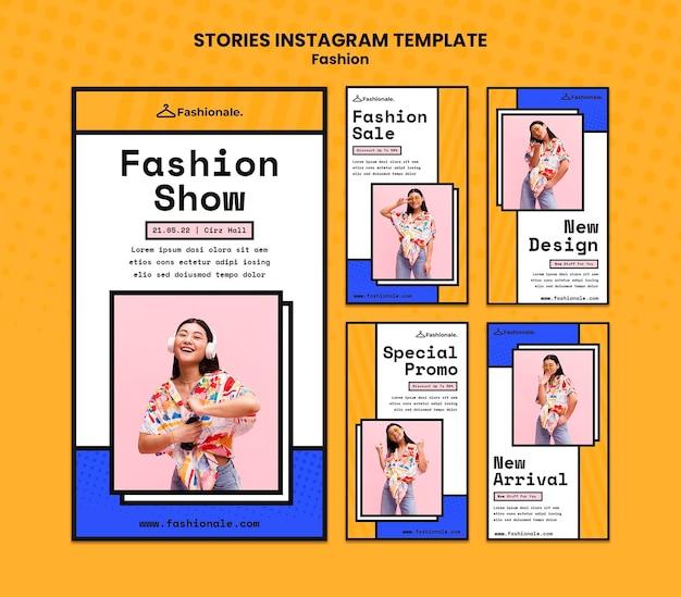Modèle d'histoires instagram de vente de mode