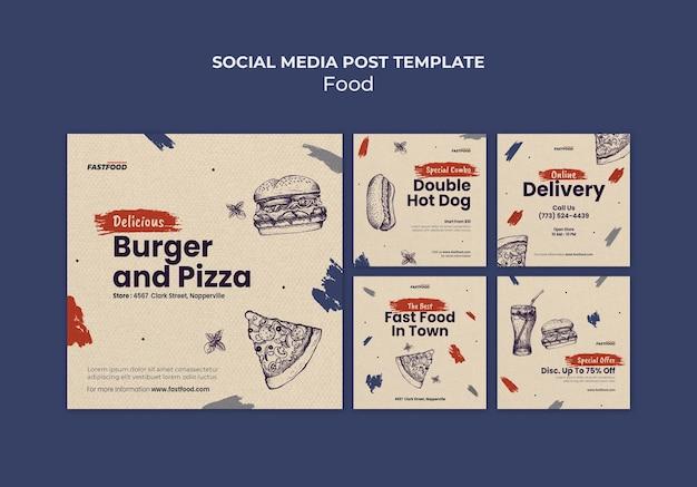 Modèle d'histoires instagram de vente de nourriture