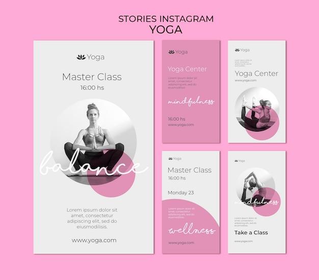 Modèle d'histoires instagram de yoga