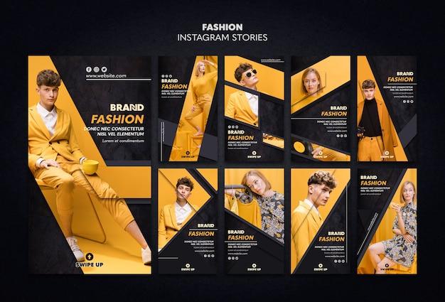 Modèle d'histoires de mode instagram