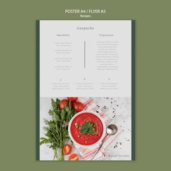 Modèle d'impression d'affiche de gaspacho