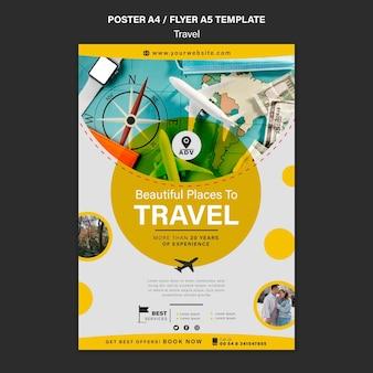Modèle d'impression d'agence de voyage